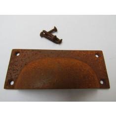 Small Rectangular Cup Handle Rust on Iron