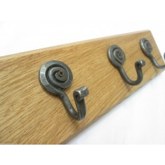 Antique Iron Snail Coat Hook Rail