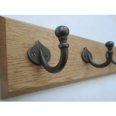 Antique Iron Spear Ball Tip Coat Hook Rail