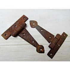 "Pair Of 4"" Spear Cabinet Hinge Rust"
