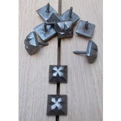 Pack of 10 Door Studs Ornate Decorative Antique Iron