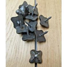 Pack of 10 Door Studs Textured Antique Iron