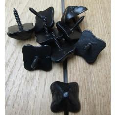 Pack of 10 Door Studs Textured Black Antique