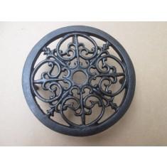 Cast Iron Ornate Round Trivet Antique Iron