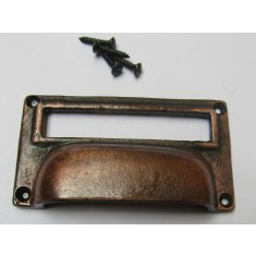 "4"" Large Card Holder Cup Handle antique copper"