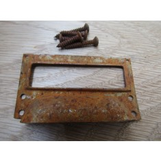 Victorian Steel Filing Cabinet Card Holder rust