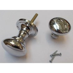 Rim Knob set Victorian Polished Chrome