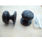 Mortice Door knob Black Antique Textured Mushroom