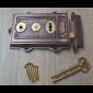 Cast Iron Davenport Rim Lock Antique Copper