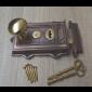 Cast Iron Davenport Rim Lock Antique Copper & Cottage Rim Natural Brass Set