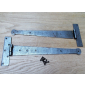 """Pair of Penny end Cabinet hinge 10"""" Antique Iron"""