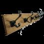 Solid English Oak Coat Rack with 2 Hooks