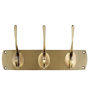 Solid brass coat rack with an antique brass finish