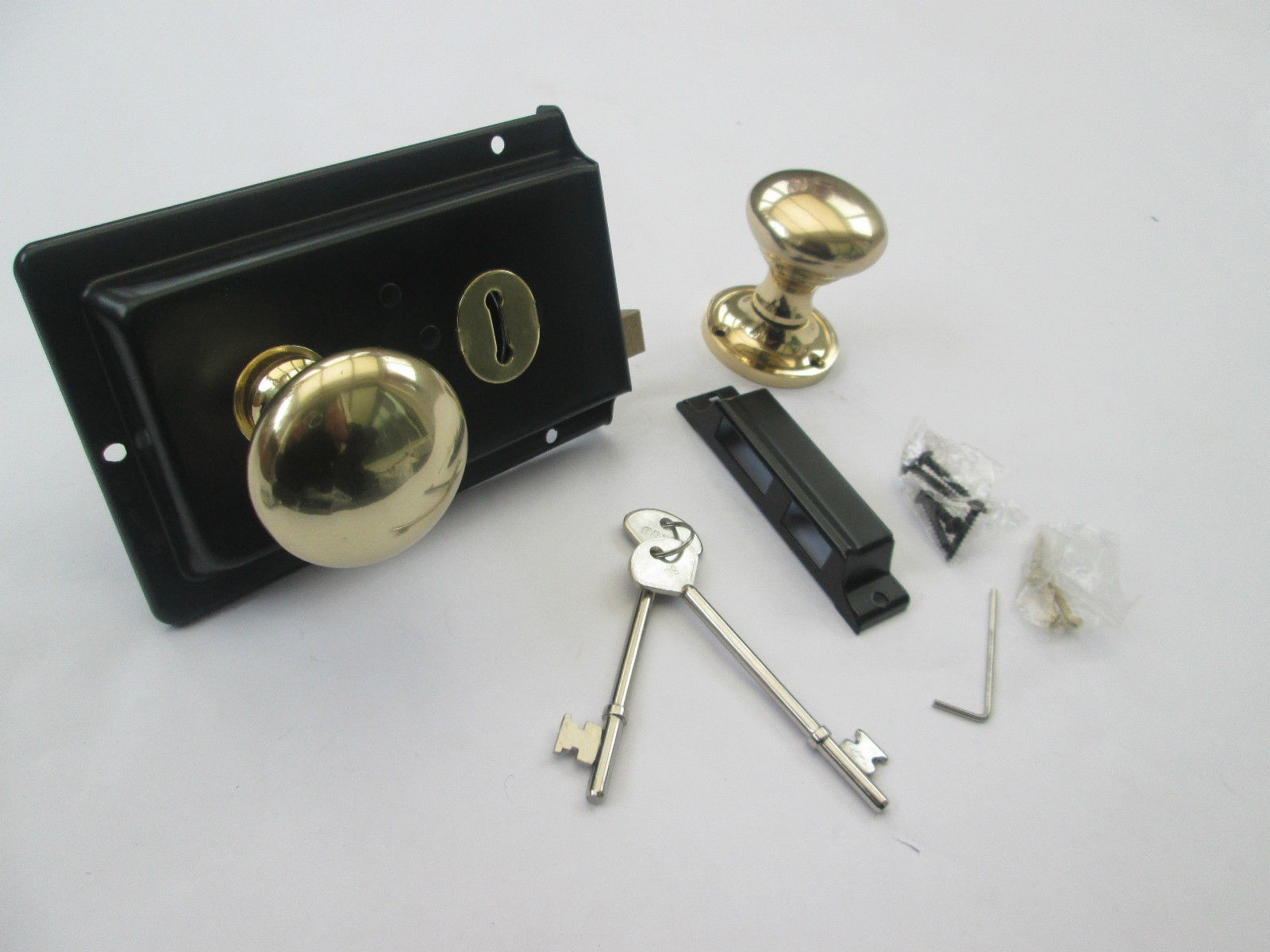 Replica 1900\'s rim lock set   Ironmongery World