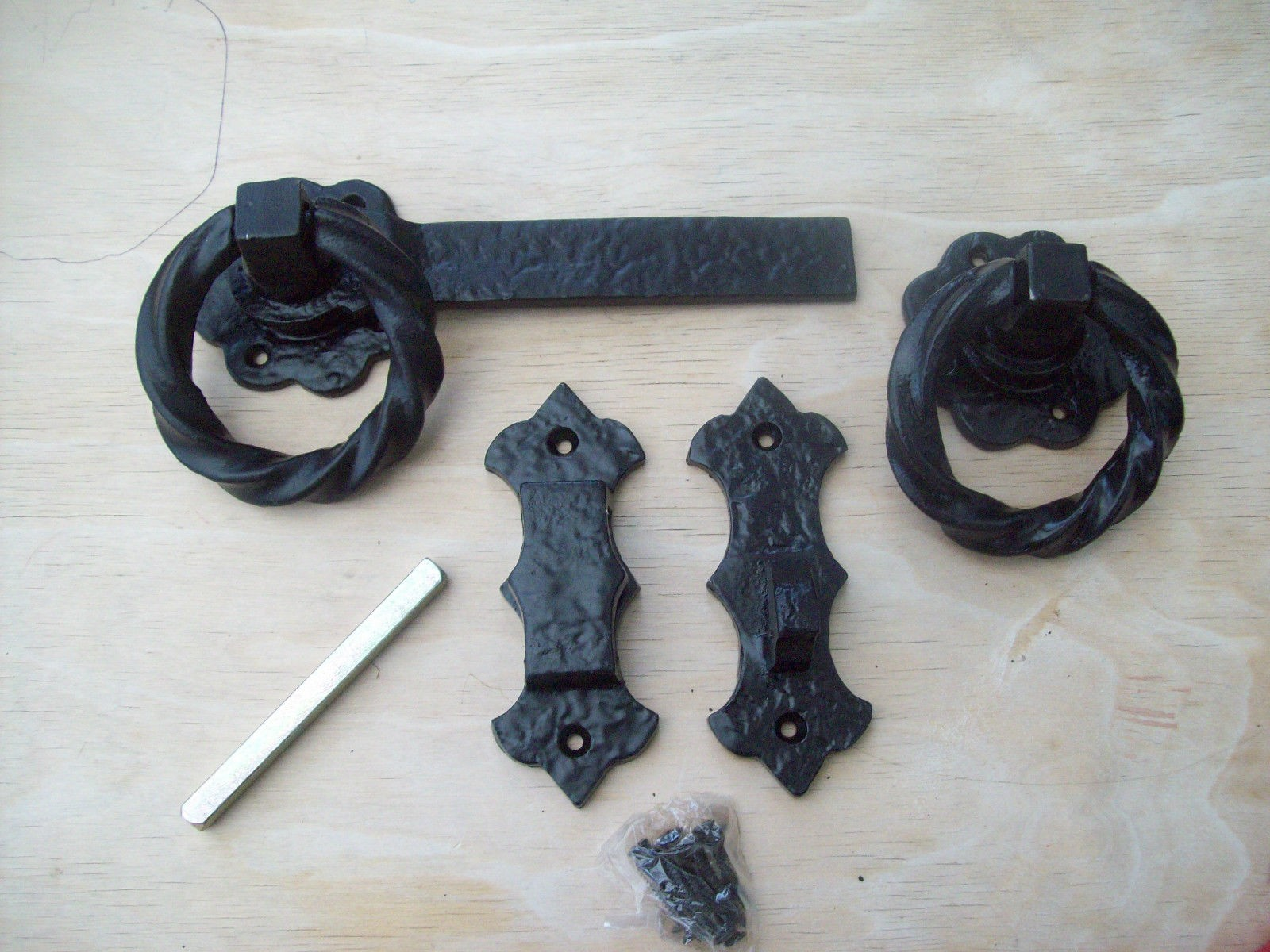 Black Antique Cast Iron Fancy Twisted Garden Gate Door
