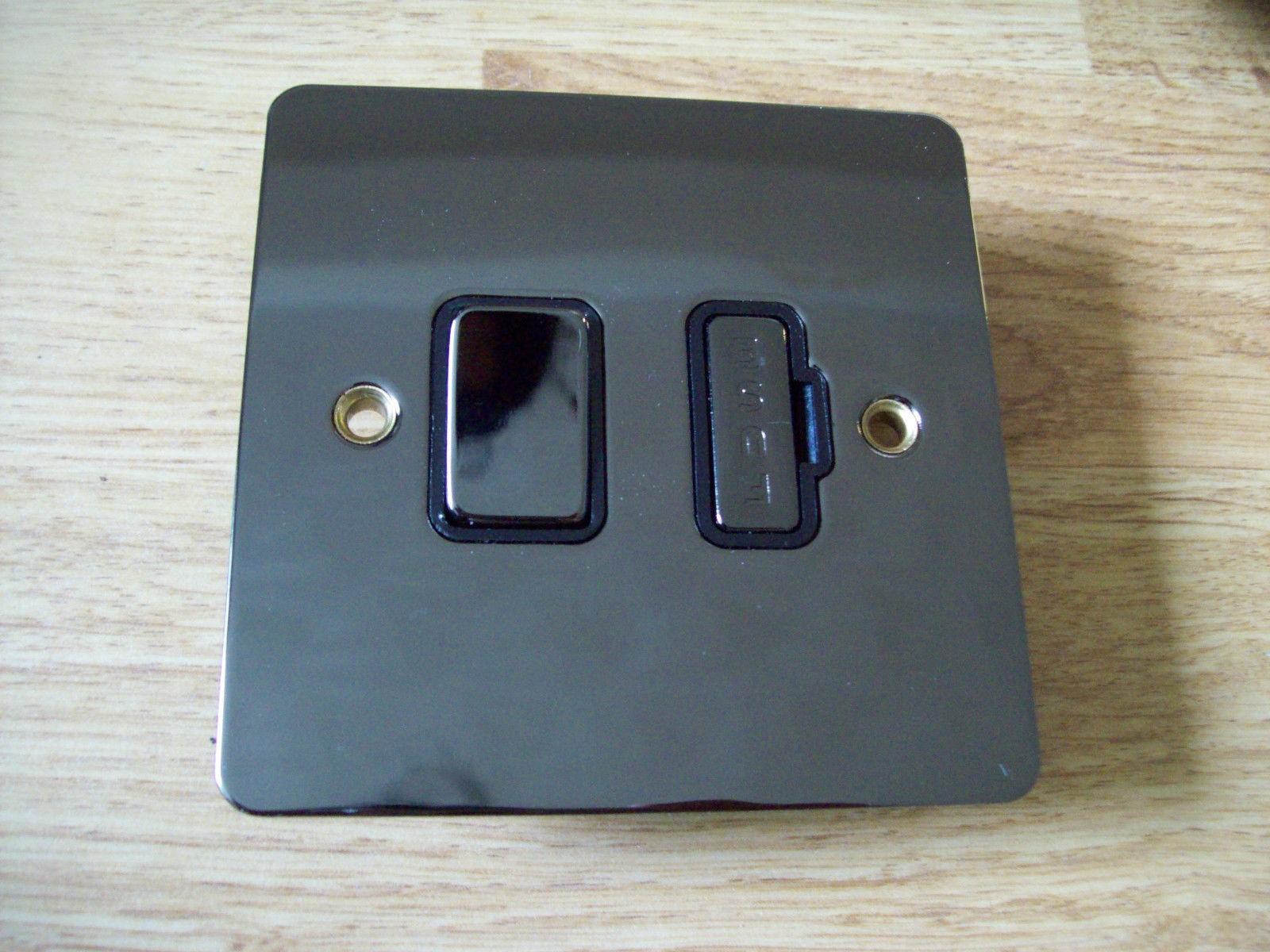 13 Amp Fused Spur In Polished Black Nickel Finish