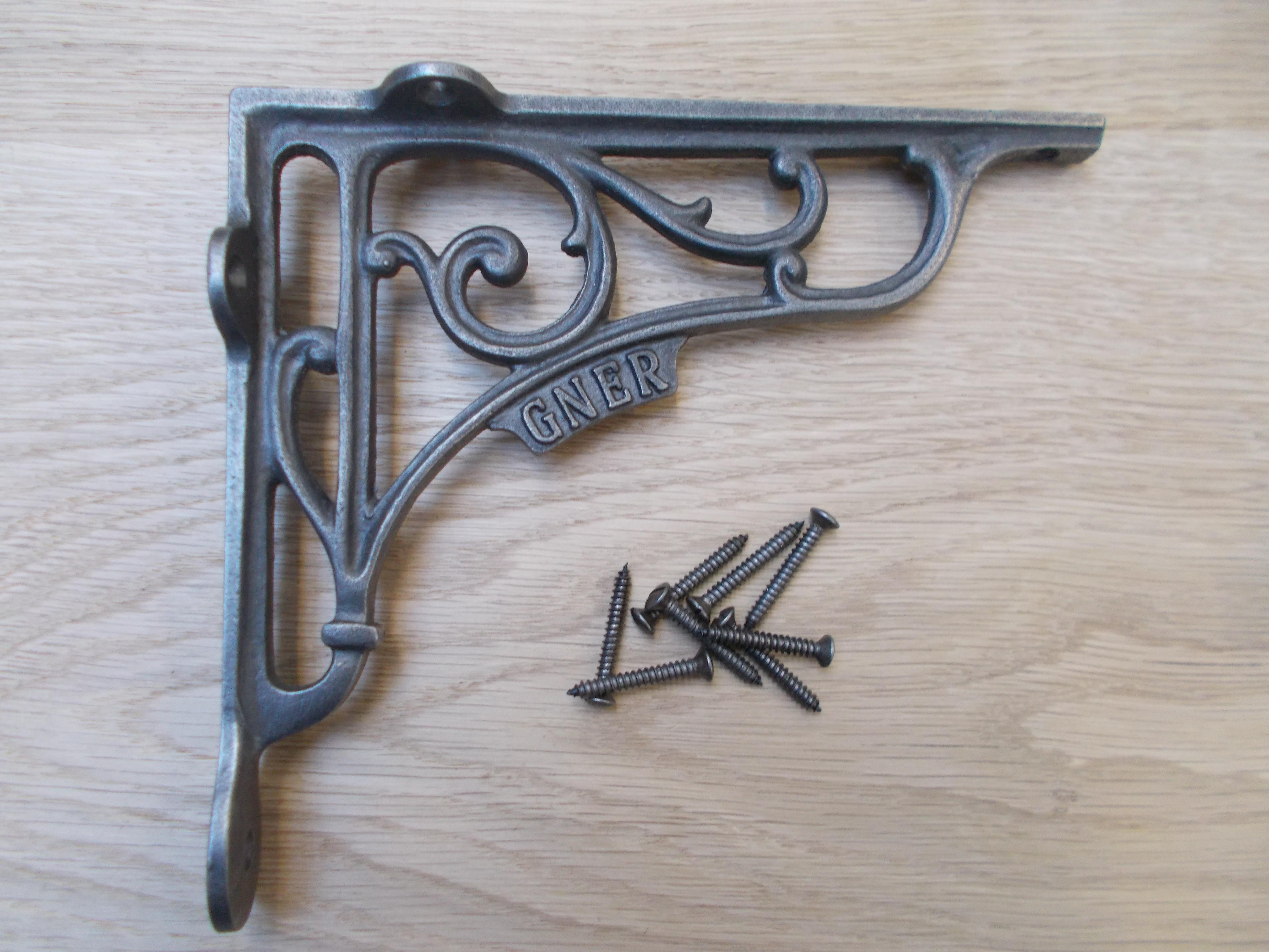 1 X Gner Railway Antique Vintage Style Cast Iron Shelf