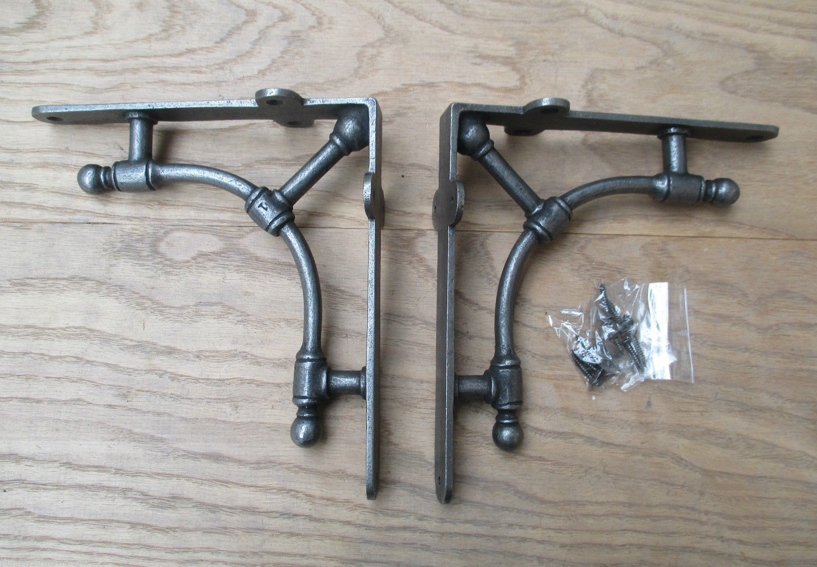 Pair Of Albion Vintage Old Victorian Scroll Shelf Brackets