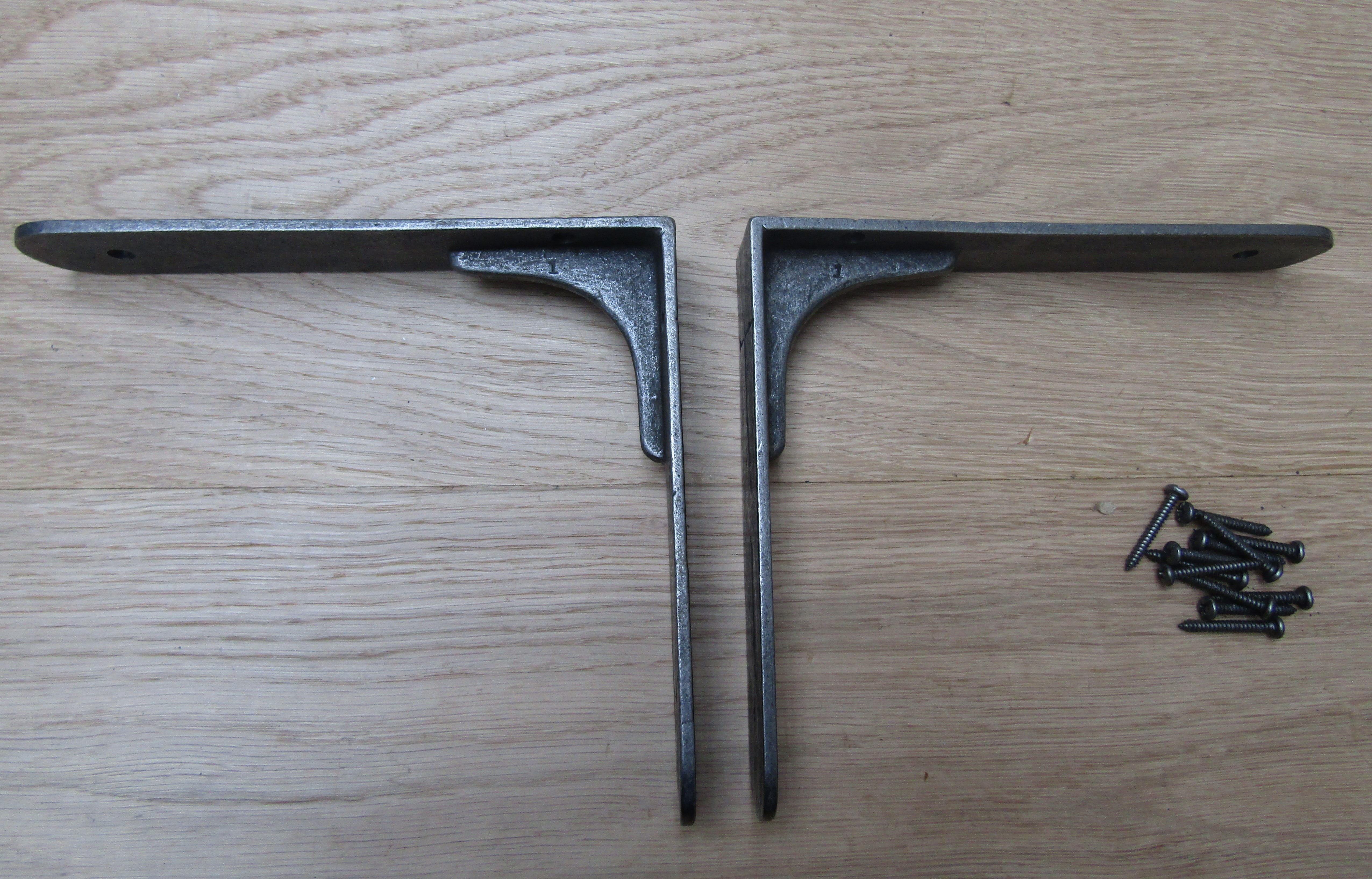 Pair Of Sheffield Industrial Cast Iron Shelf Bracket Retro