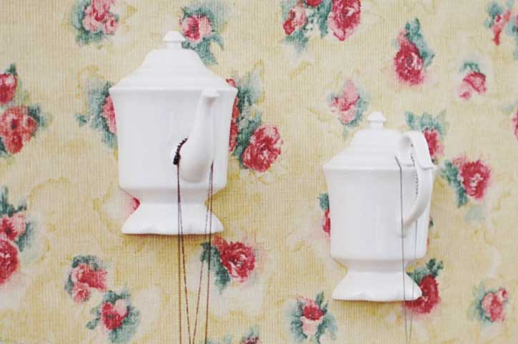 wall hooks made from teapots