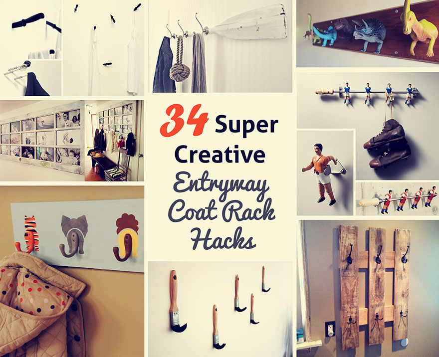 34 creative coat hook rack hacks and ideas for your entryways