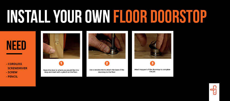 how to install a door stop
