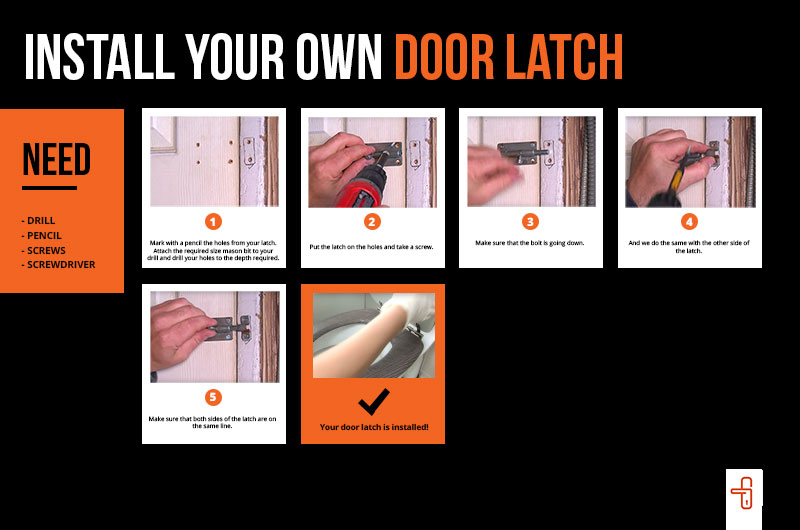 how to install your own door latch
