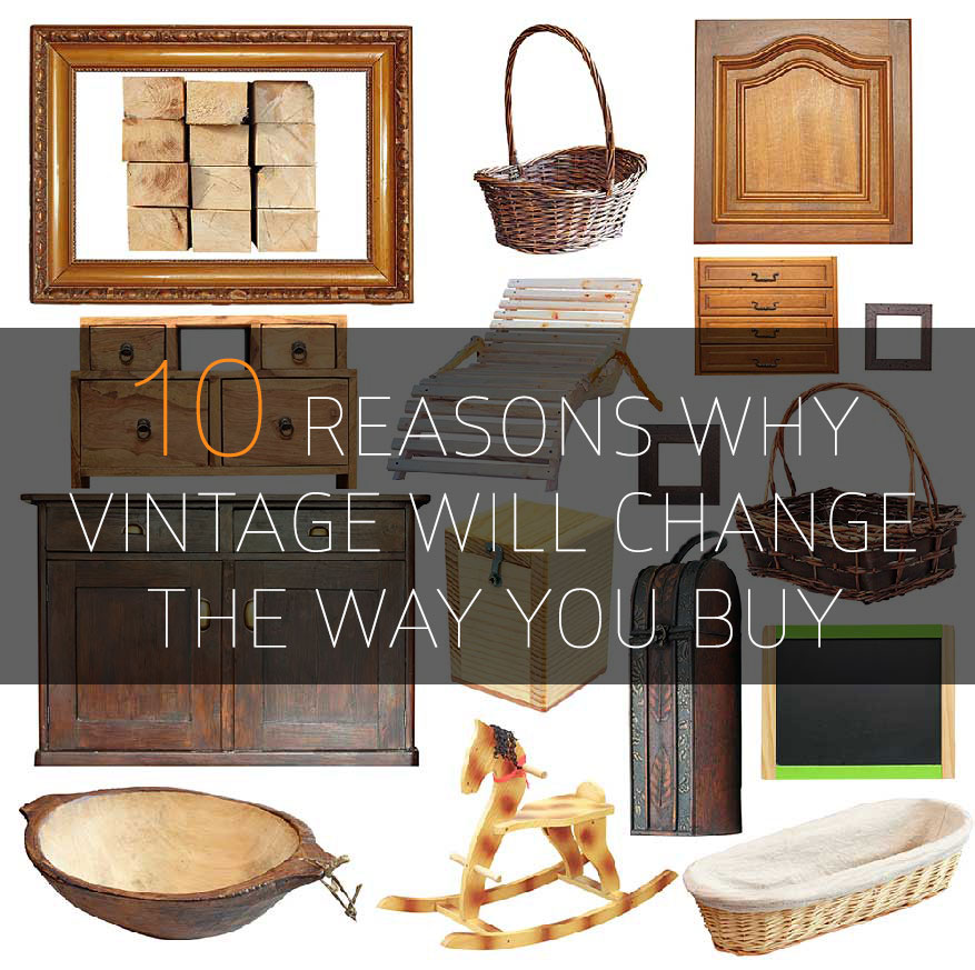 montage of vintage items
