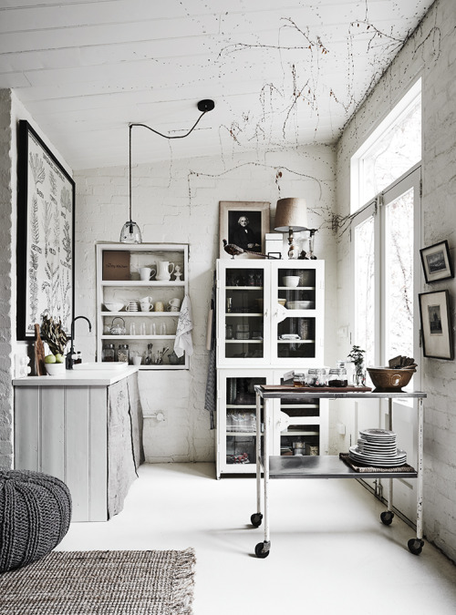 white Scandinavian house
